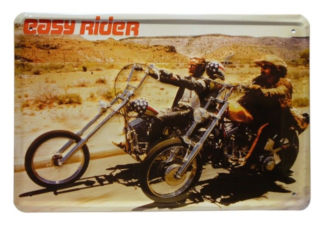 easy rider biker motorrad metallschild 20x30 cm reklame. Black Bedroom Furniture Sets. Home Design Ideas